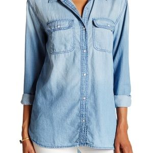 Melrose and market denim shirt